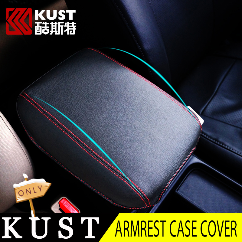 KUST leather Armrest Case Cover For CRV 2012 2015 Interior Accessories Armrest Center Console Cover For Honda For CRV 2013 2016(China (Mainland))