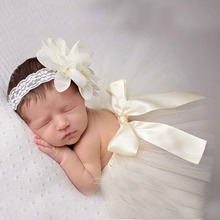 8 colors Newborn baby girl tutu sets Photography Accessories tulle tutu & Flower Headbands Outfits Shower gifts photo props(China (Mainland))