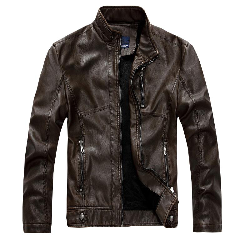HOT New Arrivals  Brand PU Leather Jacket Men Jaqueta Couro Masculino Bomber PU Leather Jacket  Coat Motorcycle Jacket  MC2252