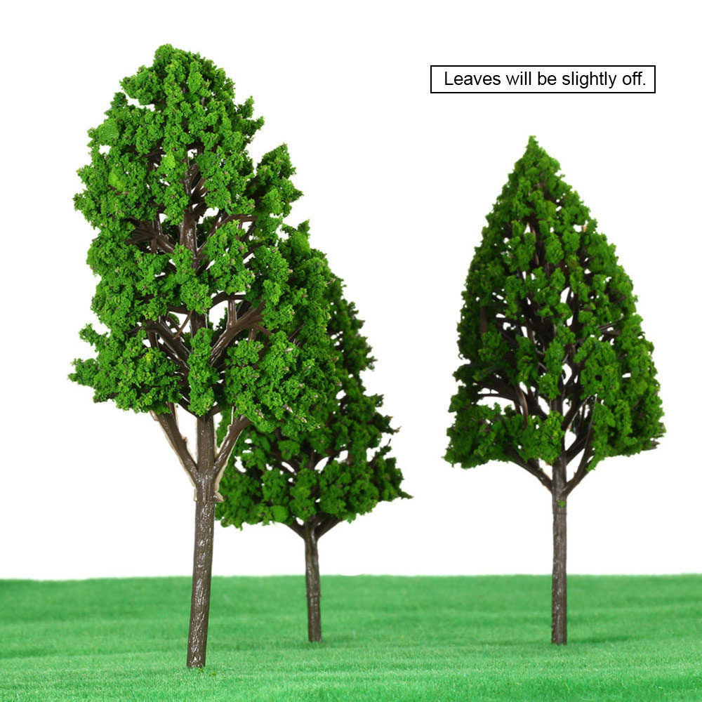 12 Pieces Plastic Model Trees Architectural Model Train Layout Garden Scenery Scene Wargame Landscape Toys For Children(China (Mainland))