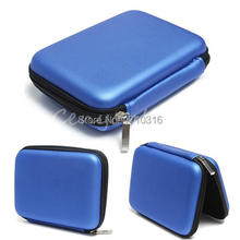2015 Newest Blue Hard Carry Case Cover Pouch for 2.5 USB External WD HDD Hard Disk Drive Protect Protector Bag Enclosure