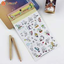 6 Sheets/Pack Book Sticker Rabbit Diary Scrapbook Calendar Notebook Label Decoration Stationery To Send Their Children Best Gift(China (Mainland))