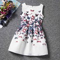 High Quality Girl Dress for Party Summer Style Print Butterfly Casual Kids Dresses Baby Clothes Children