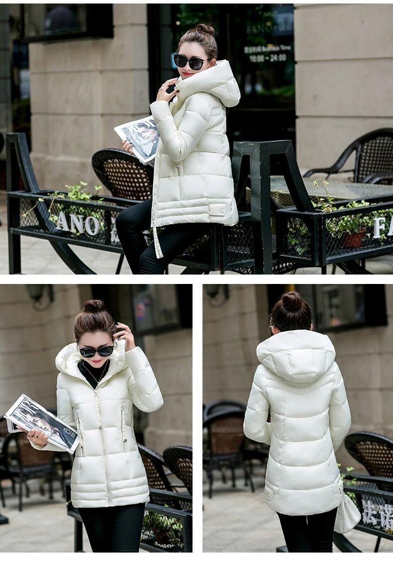 Скидки на RRAN2-3 Женщины Зимнее Пальто Куртка Зима Теплая Утолщение Куртка Хлопка Мягкий Молния Верхняя Одежда Куртки Мода Slim Пальто