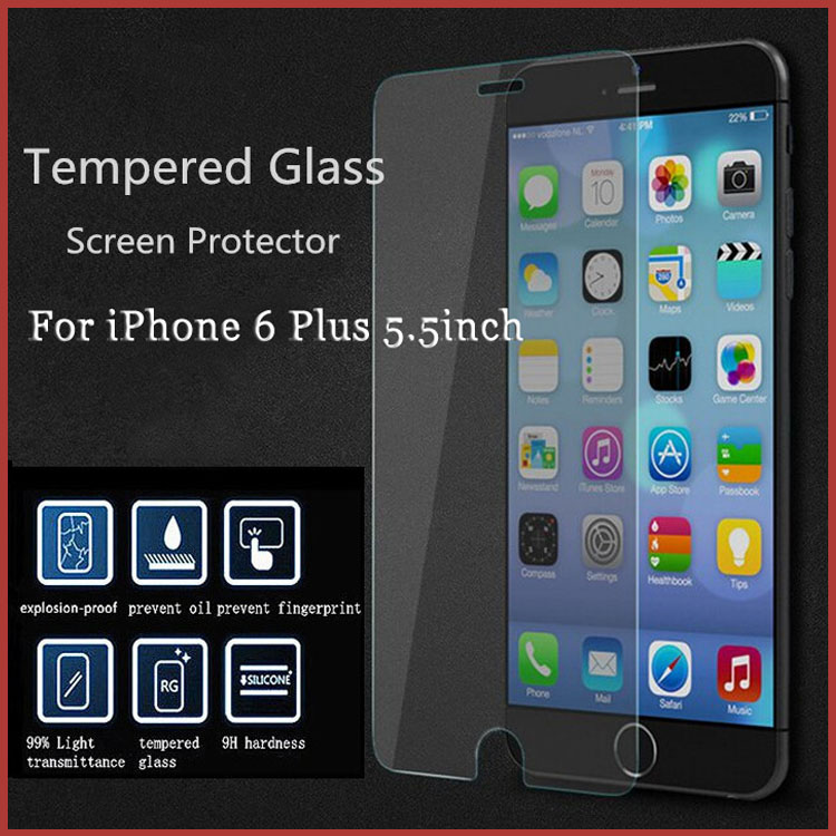Ultra thin 0.3mm Explosion-Proof Premium Tempered Glass Screen Protector For Iphone 6 Plus 5.5 inch Glass Film Free Shipping(China (Mainland))