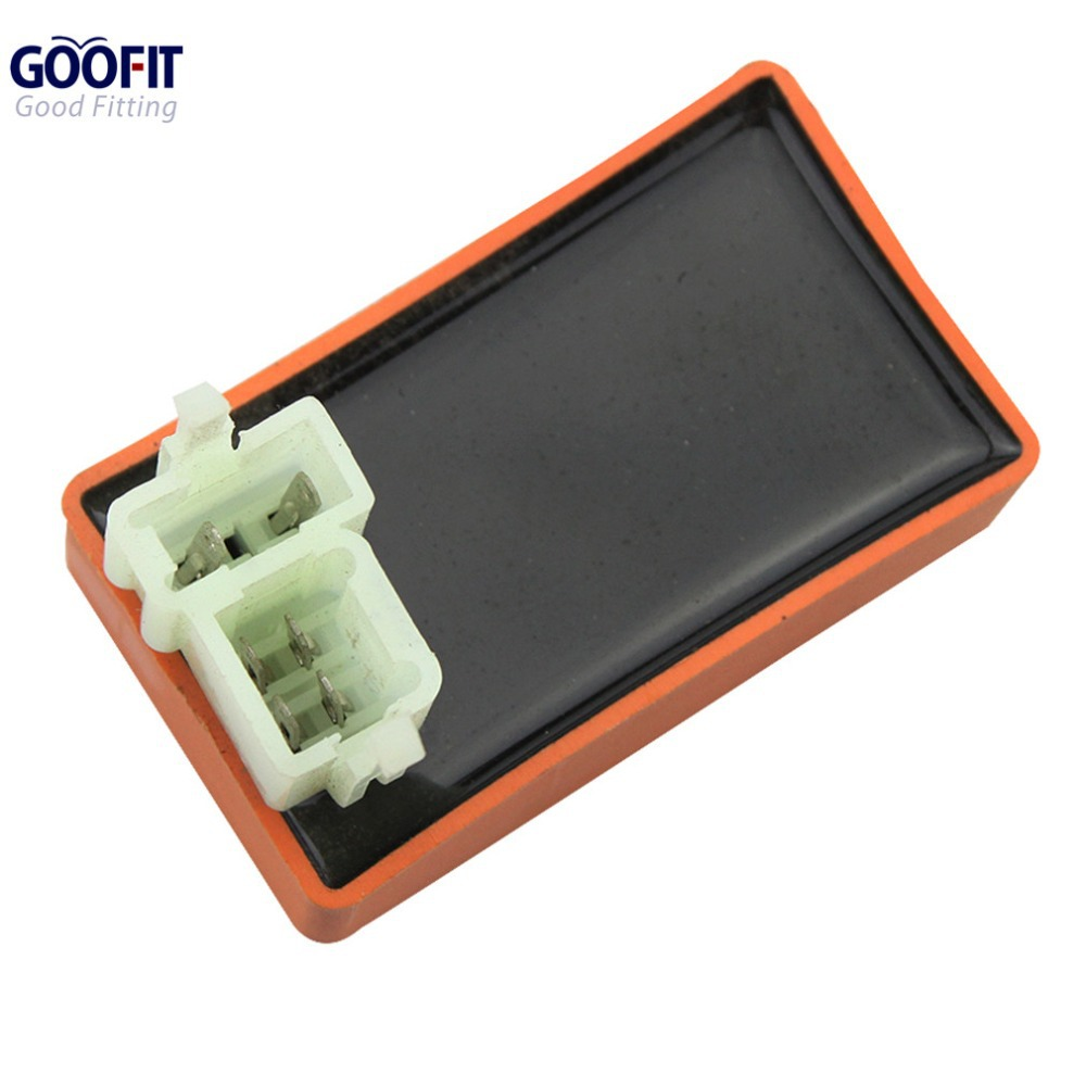 GOOFIT Motorcycle Performance 6Pin CDI Box Unit for GY6 50cc 60cc 80cc 125cc 150cc ATV Go Kart Moped and Scooter H048-016(China (Mainland))