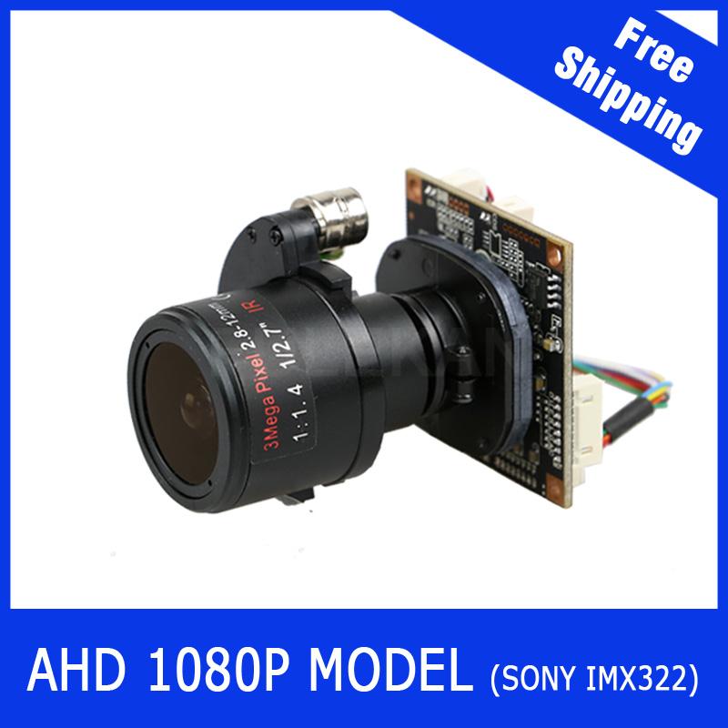 "AHD Camera 1080P 2.8-12mm Motorized Zoom & Auto Focal Lens 1/3"" SONY CMOS IMX322 AHD CCTV camera module board(China (Mainland))"