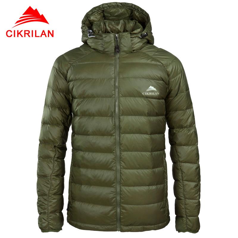 Mens Light Weight Goose Down Cotton Jackets Puffer Hooded ...