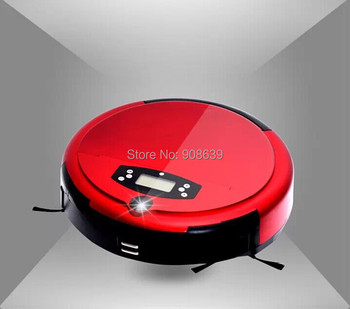 (Free Shipping For Russian Buyer)Voice Function Robot Vacuum Cleaner Wet and Dry With Auto Recharge,UV Light,Time Set,LCD Screen
