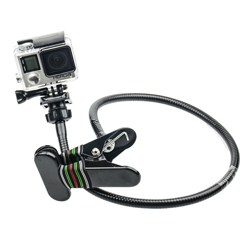 Black Mini Flexible Tripod Flexible Clamp Support For Gopro Hero4s/4/3+3/2 Flexible Arm for Adjusting Different Shooting Angle(China (Mainland))