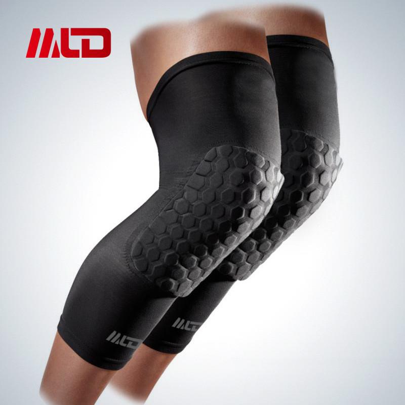 MLD Spandex Breathable Honeycomb Knee Pads Bumper Crashproof Football Basketball Leg Sleeve Sports kneepad Barce Kneelet M/L/XL(China (Mainland))