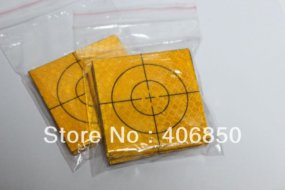 40pcs Yellow Reflector Sheet 20 x 20 mm Reflective Tape Target for Total Station<br><br>Aliexpress