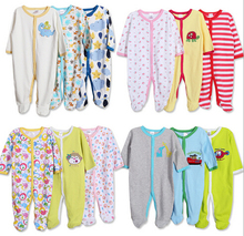 Next Baby Rompers 100% Cotton Infant Newborn to 24M Baby Girl Jumpsuits 3pc/lot Long Sleeve Baby Boy Clothing Baby Sleepsuit (China (Mainland))