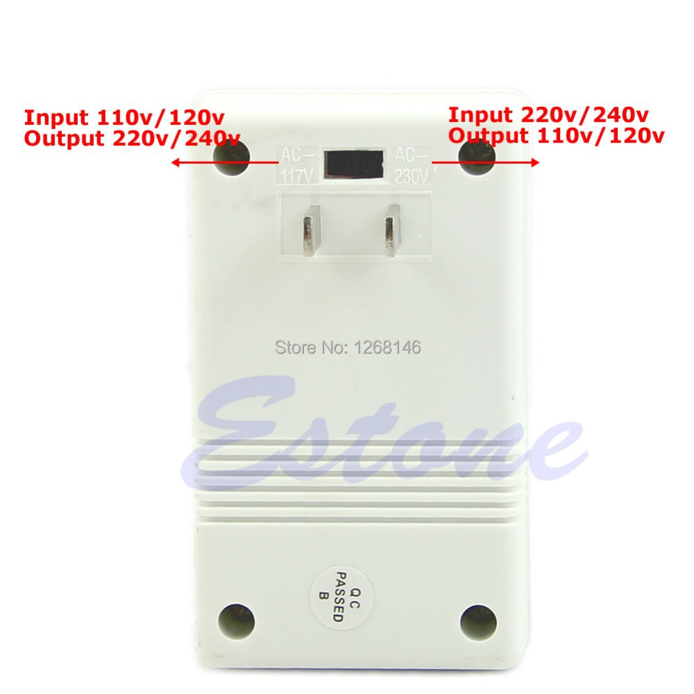 S111 Free Shipping 1 pieces Professional 220/240V To 110/120V Power Voltage Converter Adapter New(China (Mainland))