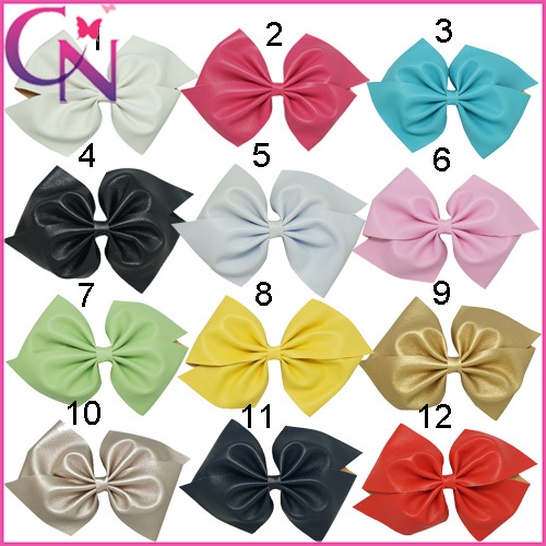 Infant Hair Accessories With Clip,Boutique Artificial Leather Hair Bows For Girls,New Arrival 7  Solid  Hair Clip  1 Pc/lot Одежда и ак�е��уары<br><br><br>Aliexpress