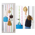 Free shipping Hanging Hat Clothes Organizer Cap Rack Holder Over Door Straps With 16 Hook