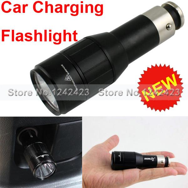 2015 New Cree XM-L2 LED 1 Mode vehicle charging flashlight Car Charger Car Cigarette Lighter Rechargable Flashlight Torch(China (Mainland))