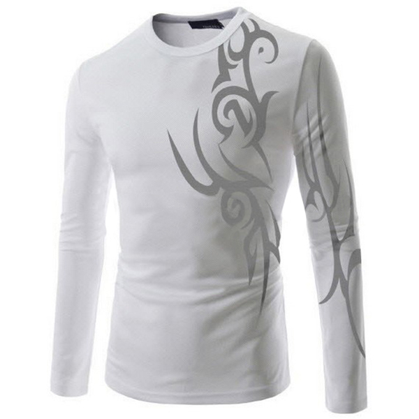 2015 leading fashion, free postage printed T-shirt men's tattoo breathable sports sleeved T-shirt(China (Mainland))