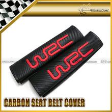 Hot New 2pcs WRC Carbon Seat Belt Cover Shoulder Pad FOR SUBARU GDB GDC BRZ WRX IMPREZA FORESTER