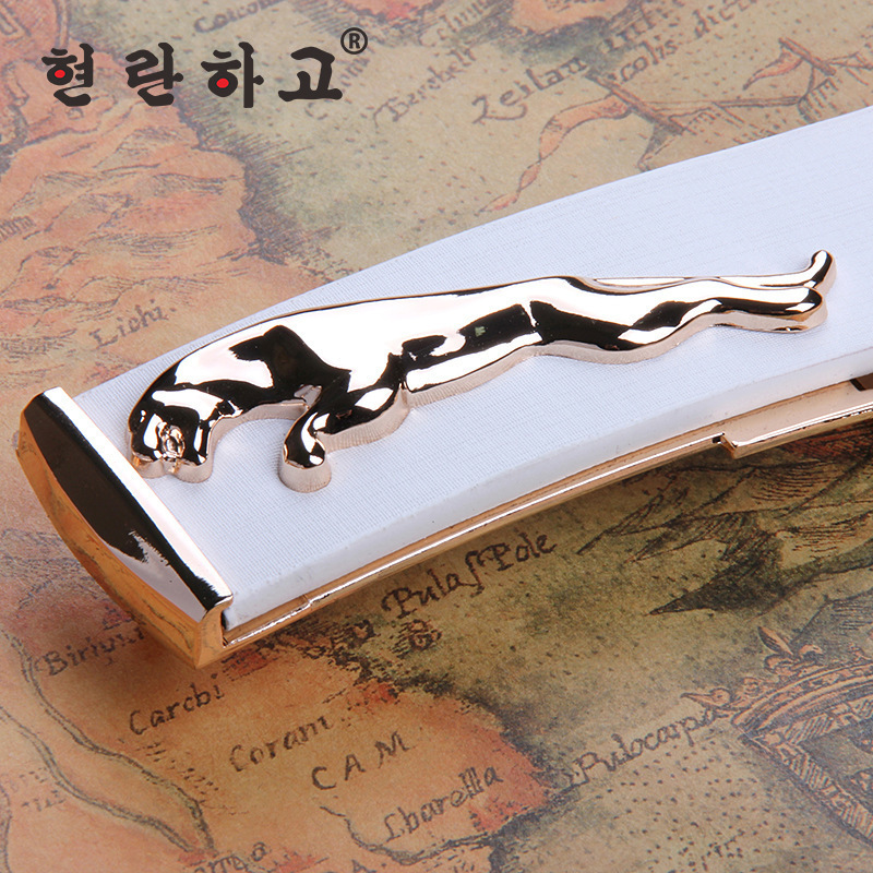 Free shipping men belt 2015 new fashion gold Jaguar mens luxury belts