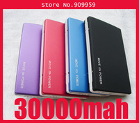 10pcs/lot 2 Usb Port 30000MAH Power Bank portable charger External Battery for iphone,samsung galaxy S3