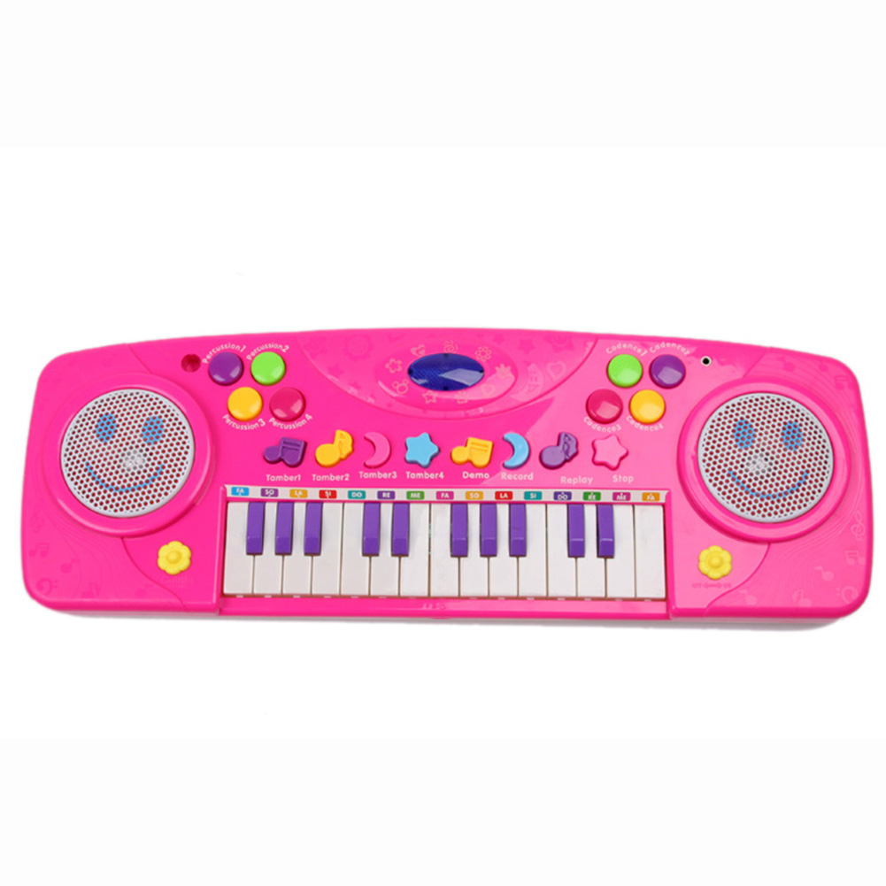 25Keys Kids Electric Piano Toy With Microphone Learning Training Music Toy Electronic Keyboard Functional Recording Piano(China (Mainland))