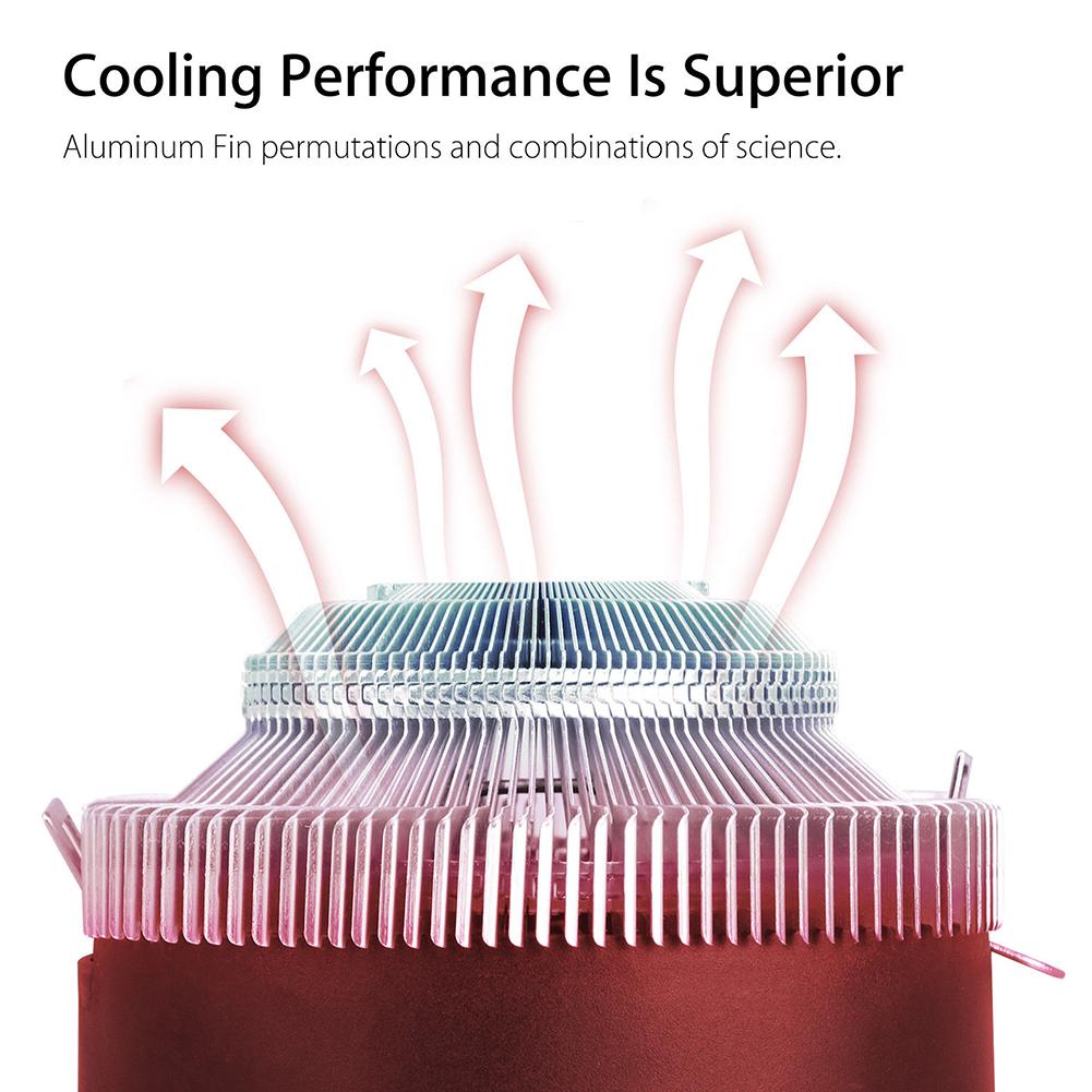 Светодиодное освещение 3 Pin Процессор кулер Прочный красочный вентилятор RGB aeProduct.getSubject()