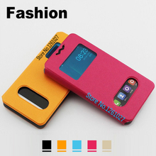 Elephone P6000 Pro Cases Cover PU Leather 5.0 inch Case For Elephone P6000 Pro case Universal 2 Window Flip Stent Cover