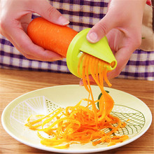1pcs Gadget Funnel Model Spiral Slicer Vegetable Shred Device Cooking Tool Carrot Radish Cutter for Kitchen Accessories JJ533(China (Mainland))