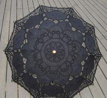 New Black Vintage Lace Umbrella Lace Parasol Umbrella Bridal Wedding Umbrella for Decoration(China (Mainland))