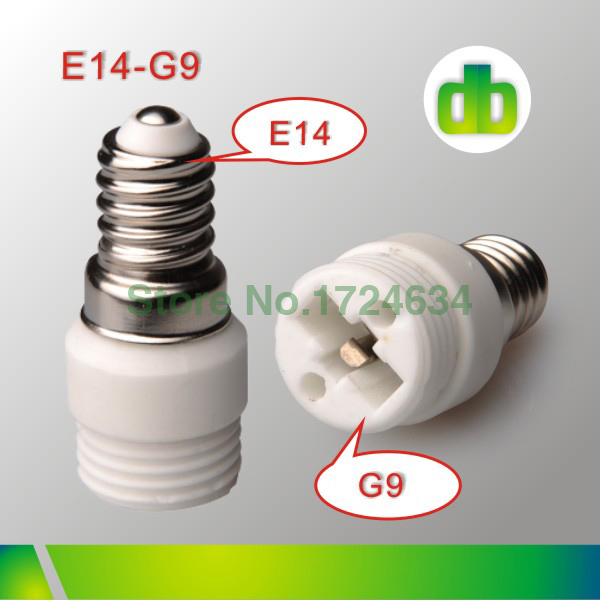 12pcs White Ceramics E14 a G9 or E14 to G9 Lamp Holder Adapter For Led Light Made In China(China (Mainland))