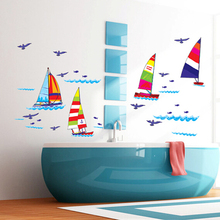 Buy Fasihion waterproof bathroom wall stickers children bedroom wall posters home decor wallpaper for $6.92 in AliExpress store