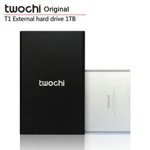 "Free shipping TWOCHI T1 Original 2.5"" Slim Mobile Portable HDD 1TB USB2.0 External Hard Drive 1000GB Storage Disk Plug and Play"
