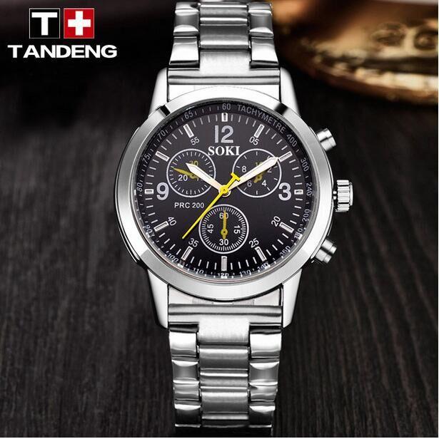 SOKI-1130hot style stainless steel strap, leisure men's watch, high-end luxury brand wrist watch, quartz watch business fashion,(China (Mainland))