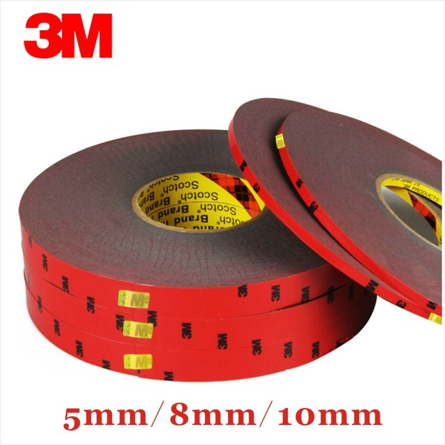 33 Meters 3M Double faced Acrylic Foam Adhesive Long Tape 5/8/10mm Auto Special Sponge Puffs Glue car decals decoration