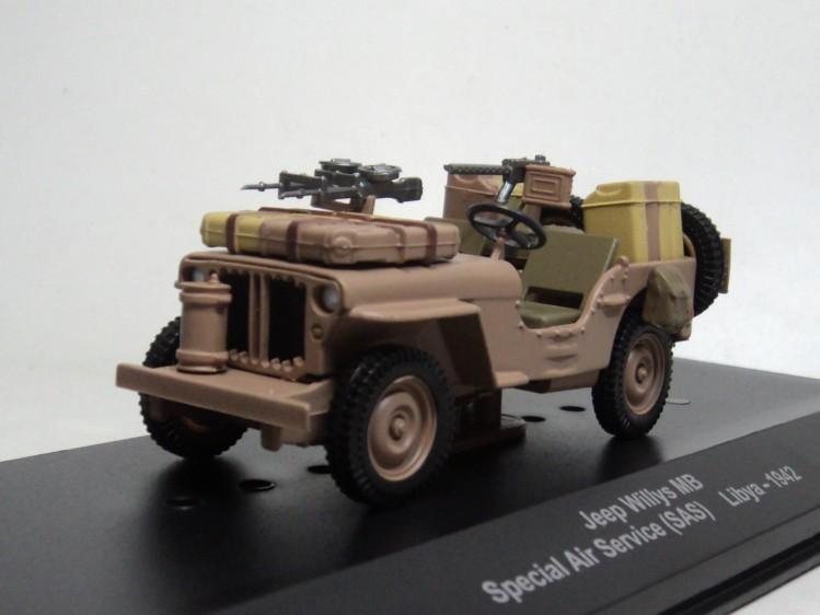 ixo - altaya 1/43 Jeep Willys MB UK Special Air Service Libya-1942 World war ii military vehicles Military jeep diecast car(China (Mainland))