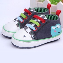 Baby Girls Boy Cartoon Frog Shoes New Born Baby First Walkers Shoes Toddler 3-12 Months(China (Mainland))
