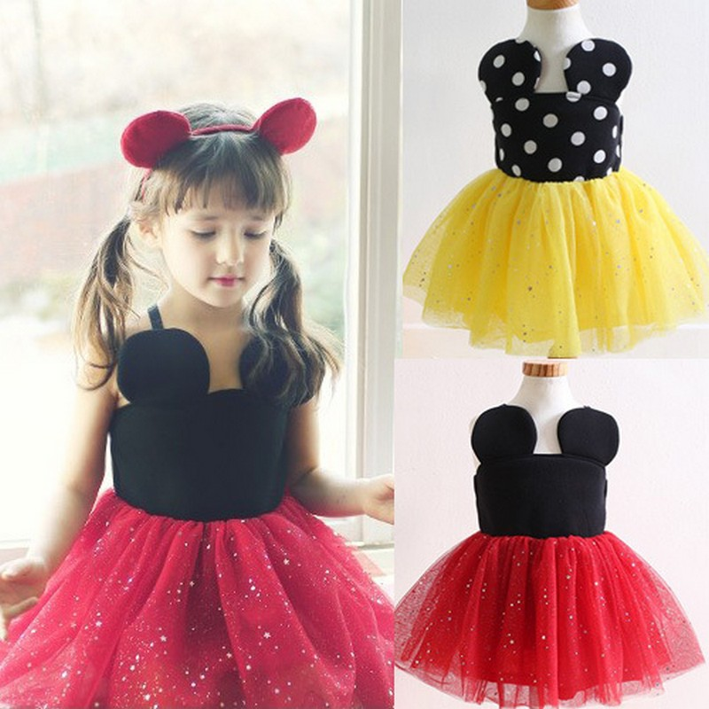 2016 Children Kids Baby Girls Dress Stars Sequins Tulle Bow Toddler Tutu Dress Girl Party Performance Dress(China (Mainland))