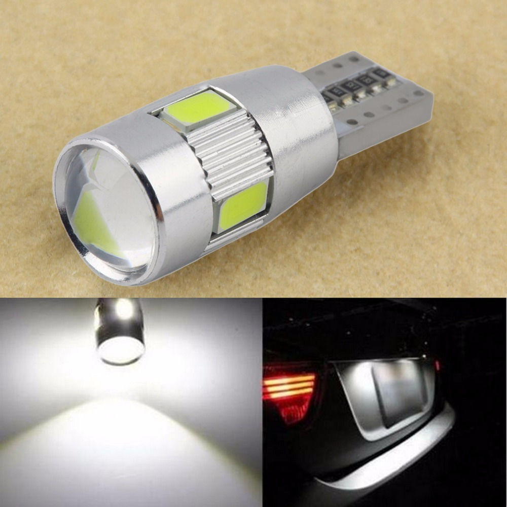 Auto car T10 LED Bulb HID XENON White light CANBUS W5W 5630 6-SMD parking fog light Lamp 194 192 158 hot selling(China (Mainland))