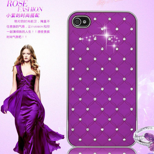 Luxury Rhinestone Bling Romance Back Case For iPhone 4 4S Gril Style Diamond Portable Form-fitted Phone Housing For iPhone 4(China (Mainland))