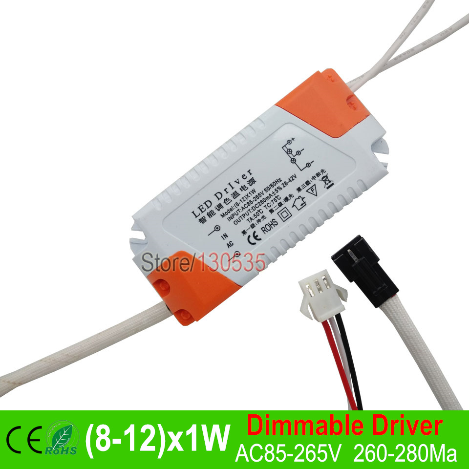 5pc LED inside Driver Dimmable Three Color Lighting Transformers 8W 9W 10W 12W Constant current Internal driver For led bulb DIY(China (Mainland))