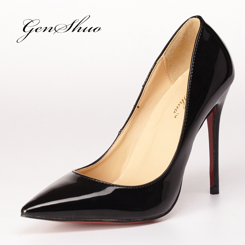 2015 New Sexy Red Bottom High Heels Shoes Women Pointed Toe Party Shoes Woman Fashion High Heel Pumps Woman Sapato Feminino X024(China (Mainland))