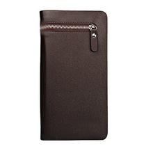 Brand Genuine pu Leather Men Wallets Business Card holder Coin Purse Men s Long Zipper Wallet