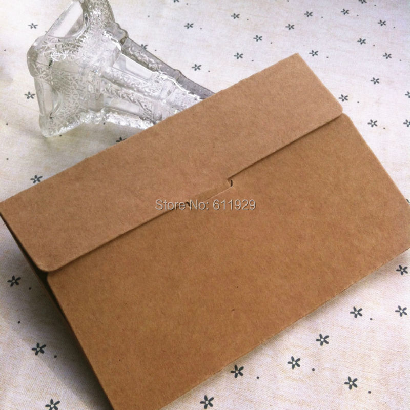 free shipping blank karft paper postcard envelope15.5x10.2x0.5CM/gift packing box/card packing box/packing labels 40 pcs a lot(China (Mainland))