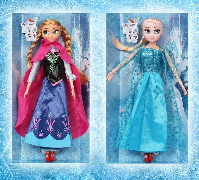 Scorching sale Reward for Ladies Toys, Trend Dolls Princess Anna and Elsa Doll Snow Queen women present,equipment for barbie