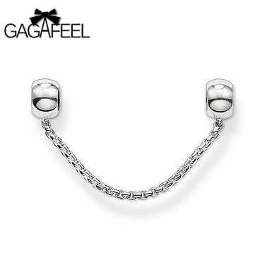gagafeelNew Fashion Women Jewelry Silver European Safety Chains Loose Beads Girls Charm Bracelets Bangles - Gagafeel Factory Co., Ltd store