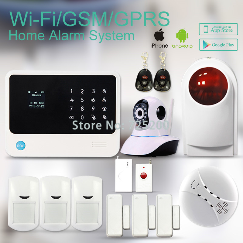 Newest Version WIFI+GSM+GPRS alarm system G90B with Compatible WIFI IP Camera, English/Spanish/Russian/French/Dutch Menu Option<br><br>Aliexpress