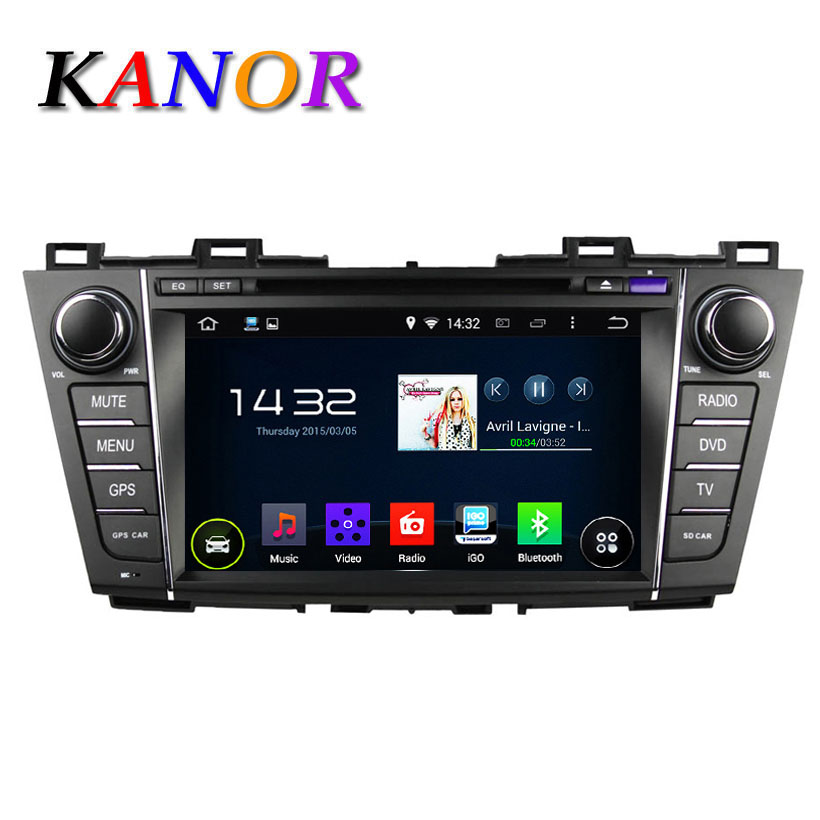 1024 600 Android 4 4 Quad Core 1Ghz Car DVD For MAZDA 5 Premacy 2009 2012