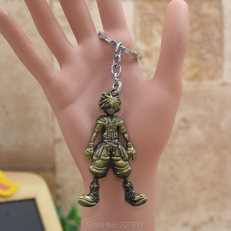 wholesale Kingdom Hearts Action Figure Keychain Metal Pendant Keychains Key Accessories Toy KC059 FSX1(China (Mainland))