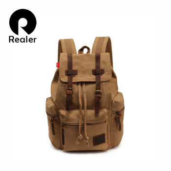 Винтажный брезент рюкзак альпинизм мужчины рюкзаки школа Packpacks путешествие сумки